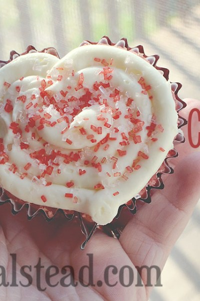 Heart Shaped Cupcakes for Valentine's Day