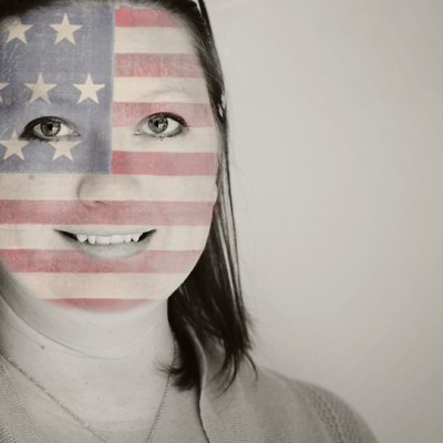 Paint Flag on a Face in Photoshop