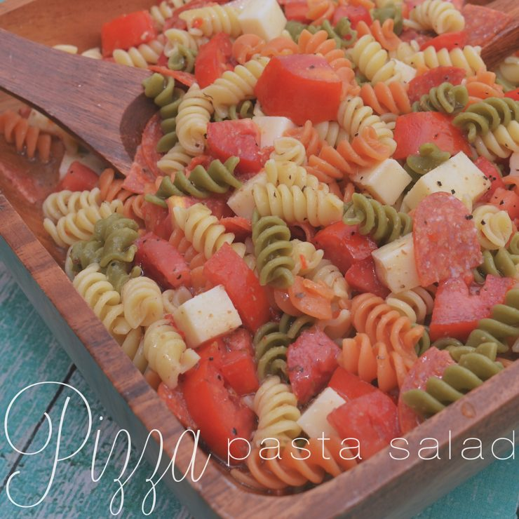 Pizza Pasta Salad | #GameTimeHero #CollectiveBias #shop