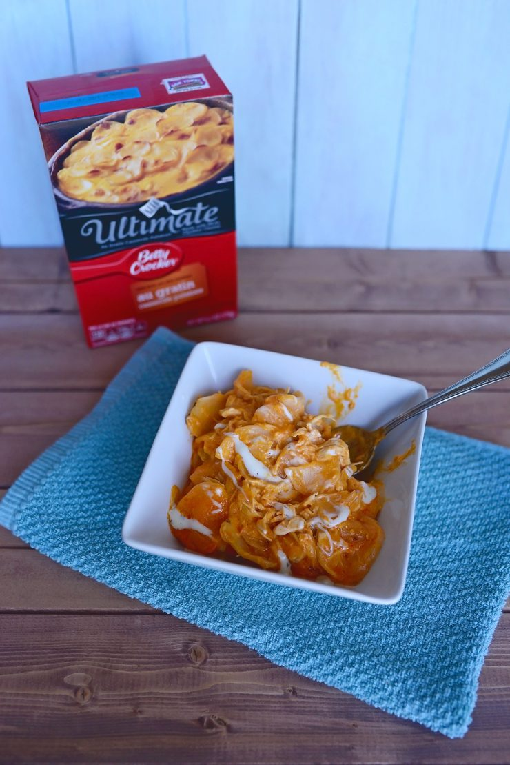 Buffalo Chicken Potato Casserole | #ad