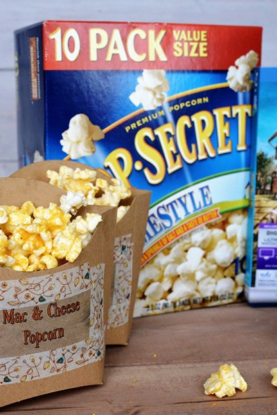 Mac and Cheese Popcorn + The Boxtrolls Movie
