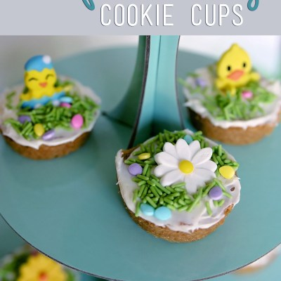 Spring Cookie Cups with Sugar Cookie Dough Sheets