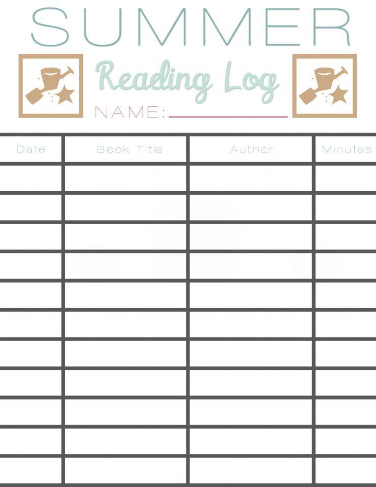 Summer Reading Log