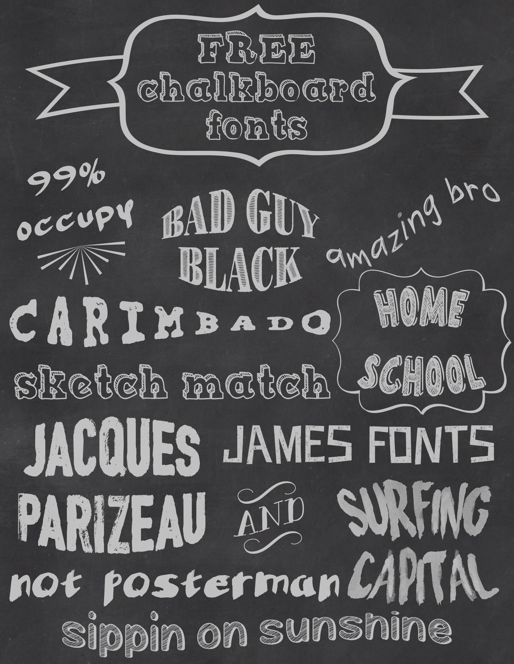 Free Chalkboard Fonts | Sarah Halstead