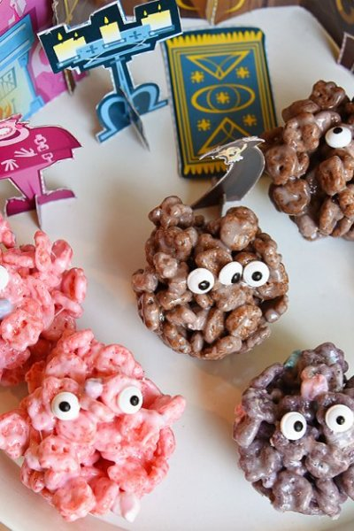 Monster Marshmallow Cereal Treats
