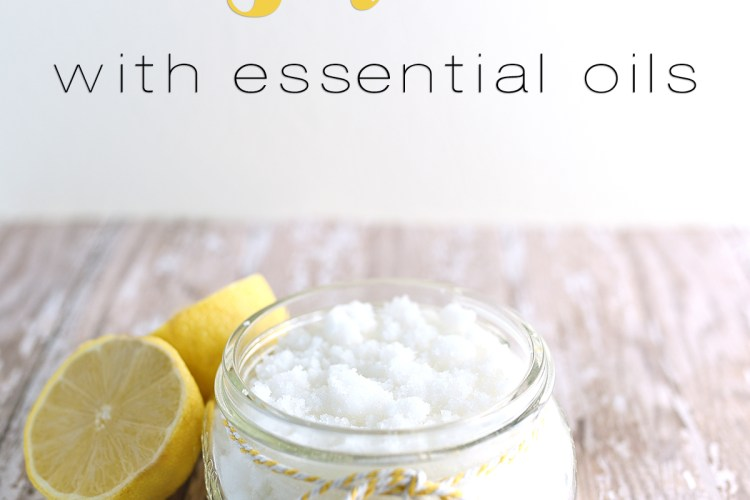 Lemon Sugar Scrub with essential oils. Perfect for dry winter skin