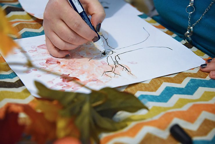 Fall Hand Print Tree