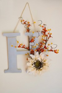 DIY Fall Monogram Door Decor | Sarah Halstead