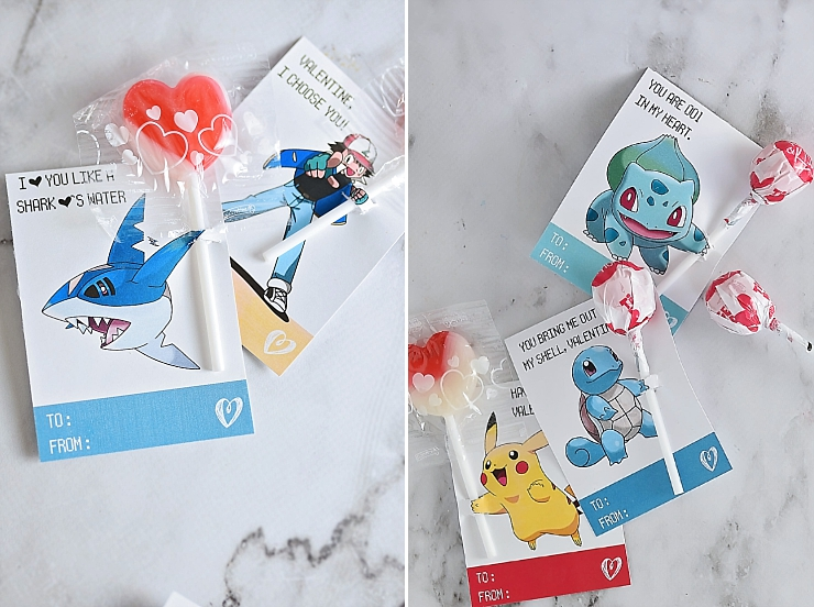 Pokemon Valentine's Day Cards