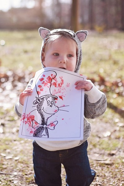 Cat in the Hat Toddler Craft