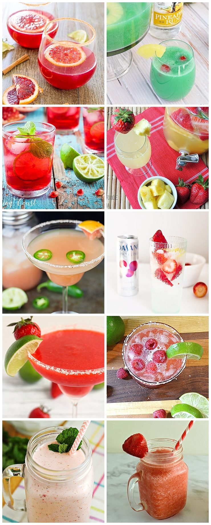 Refreshing Fruity Drinks