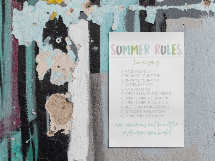 Summer Rules Printable