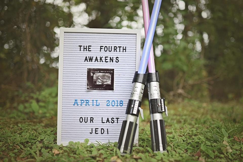 star wars pregnancy announcement sarah halstead