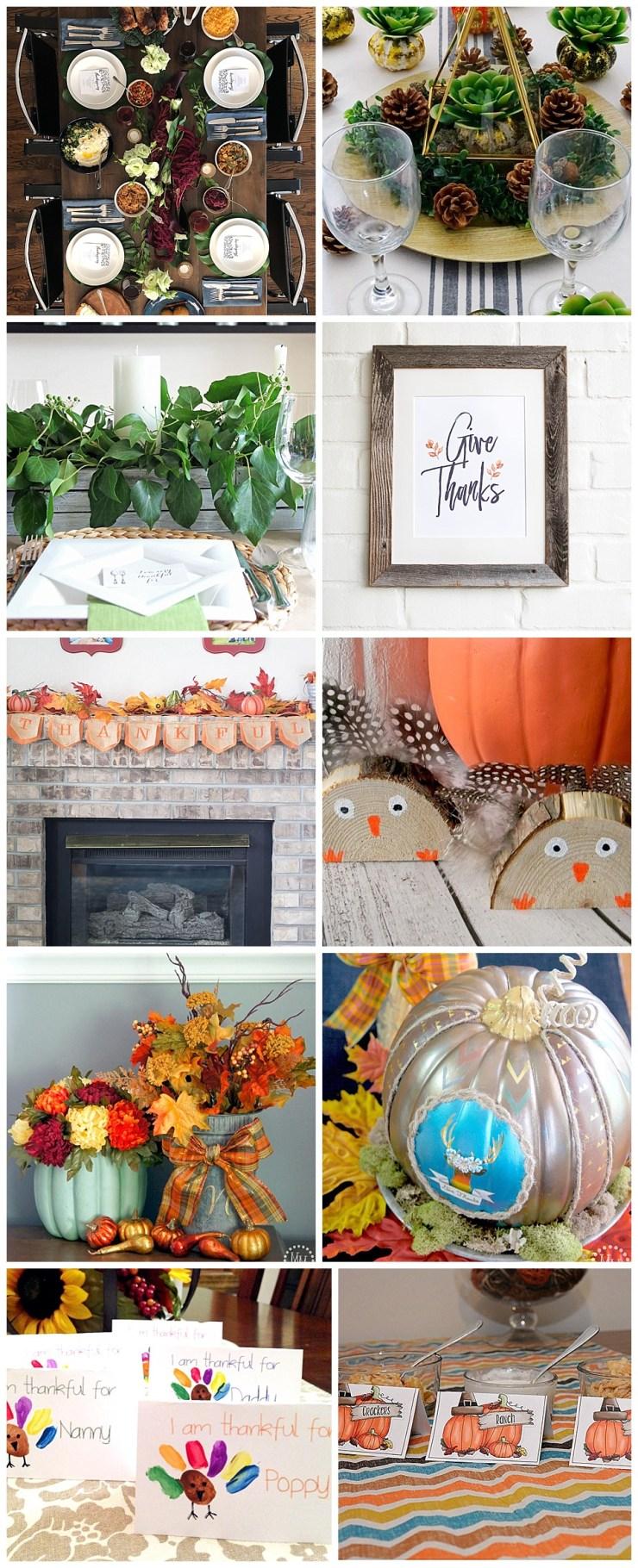 Thanksgiving Tablescape Ideas & Decor