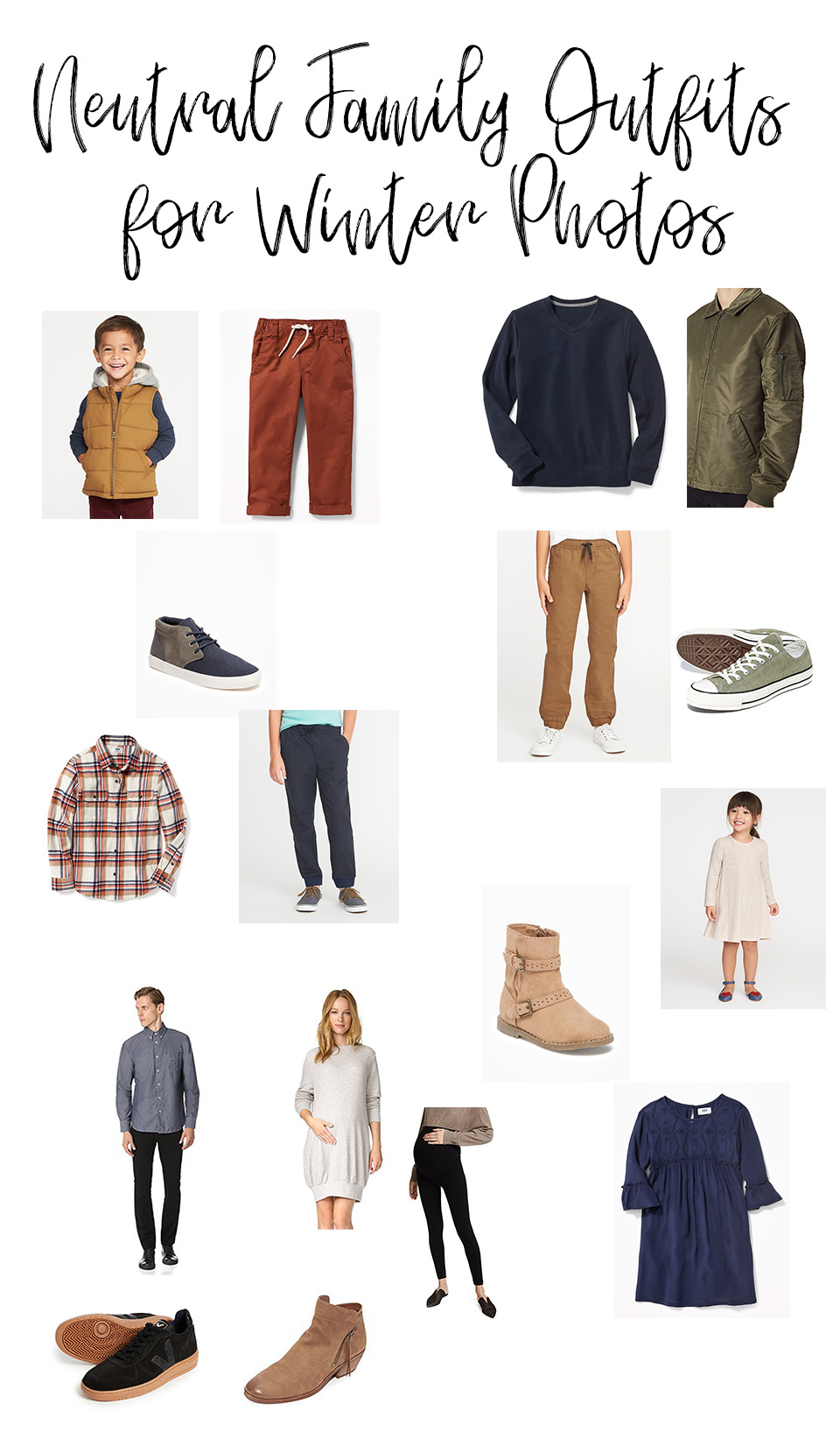 neutral family outfits for winter photos  sarah halstead