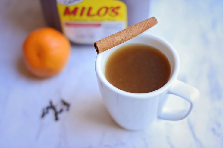 A blend of tea, cinnamon, clove and orange makes this perfect hot spiced sweet tea.
