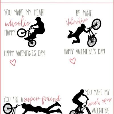 BMX Classroom Valentines | Free Download