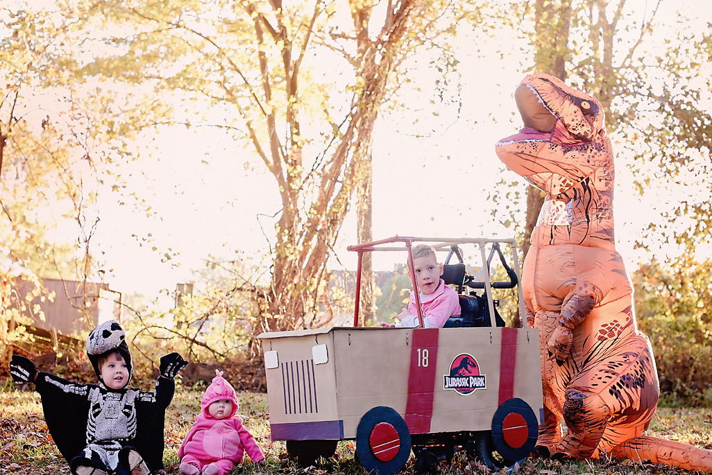 Dinosaurs and Jurassic Park Jeep Wheelchair Costume | Halloween 2018