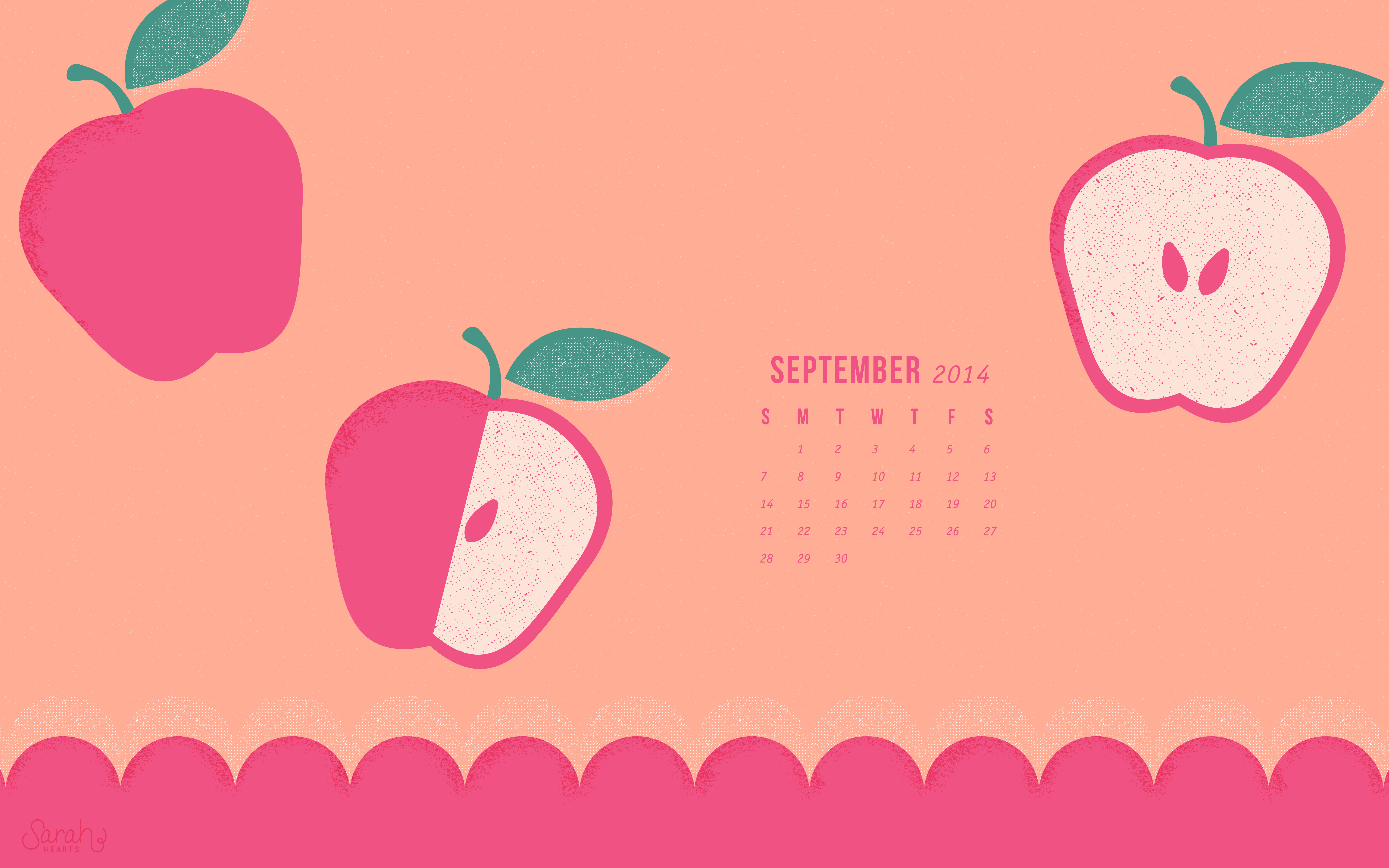 Fall Calendar Desktop Wallpaper September 2014 Calendar Wallpaper Sarah Hearts