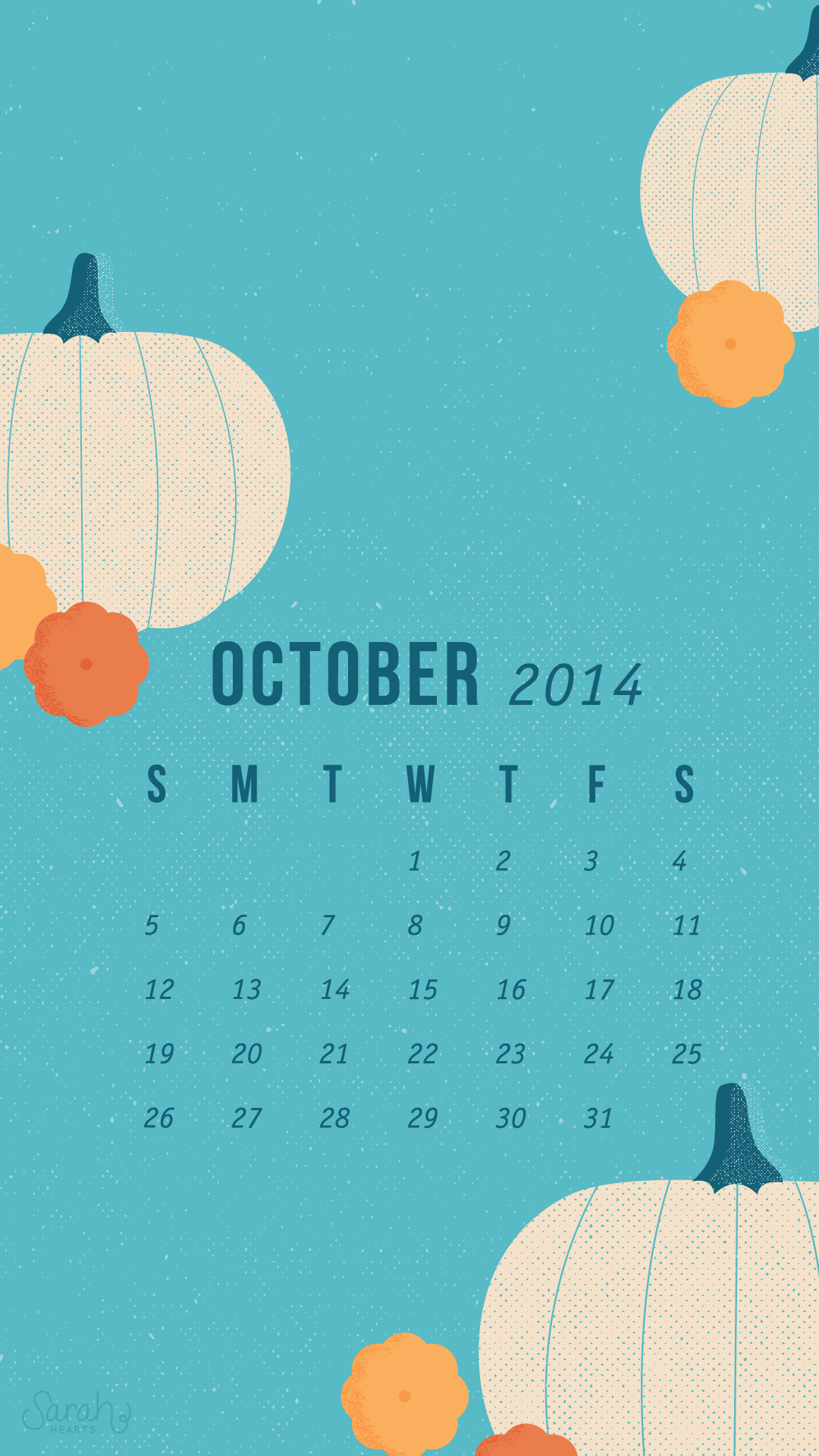 Wallpaper For Iphone 6 Fall October 2014 Calendar Wallpapers Sarah Hearts