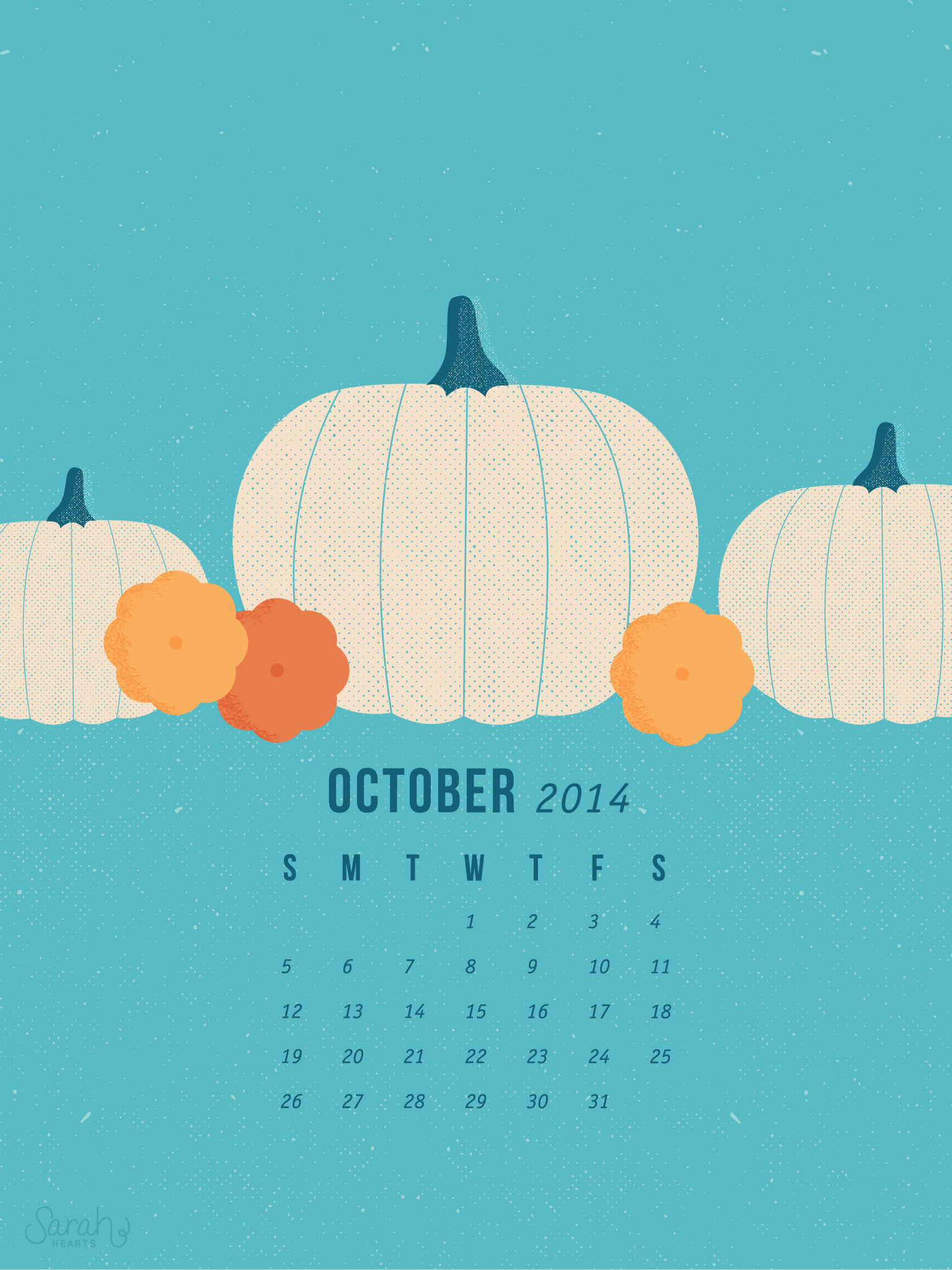 Free Cute Fall Wallpaper October 2014 Calendar Wallpapers Sarah Hearts