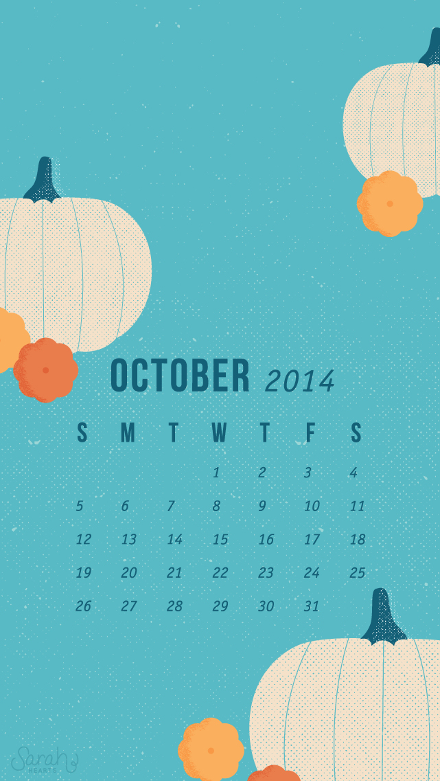 Free Cute Fall Wallpapers October 2014 Calendar Wallpapers Sarah Hearts
