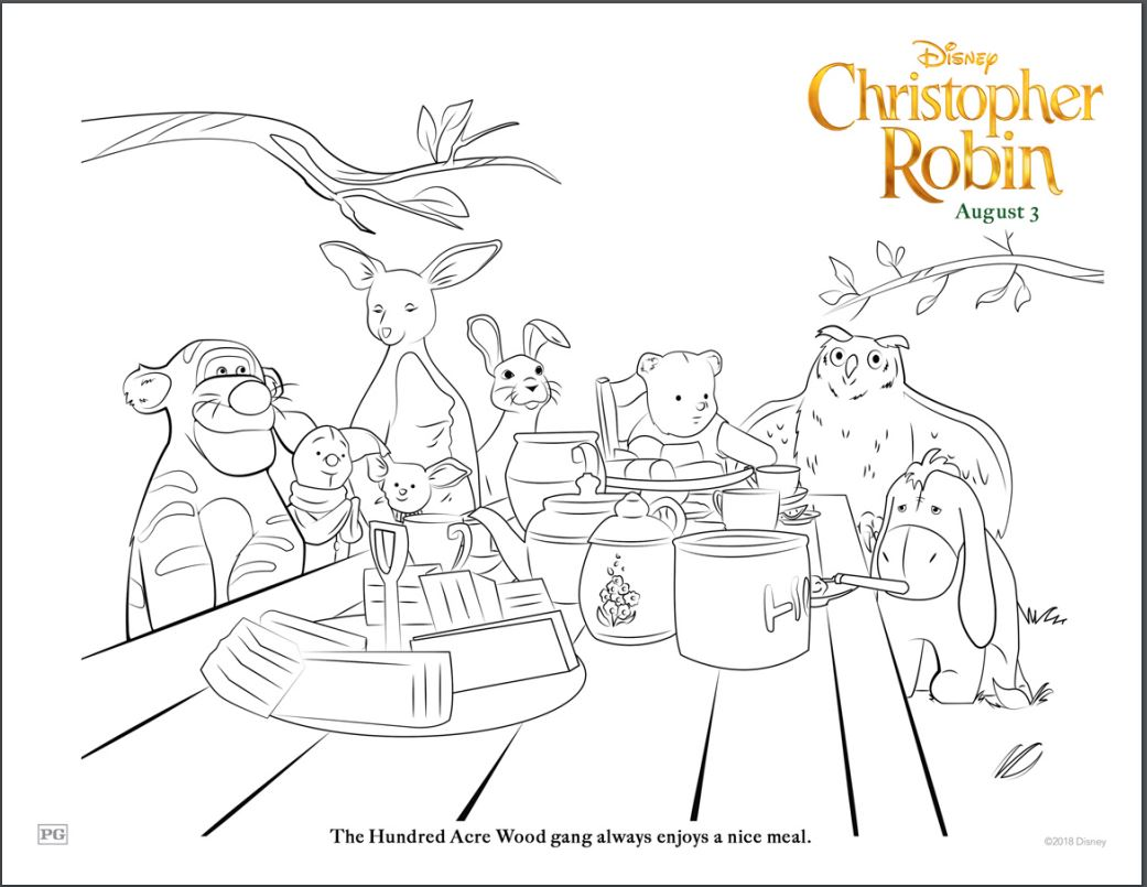 Christopher Robin Movie Coloring Sheets