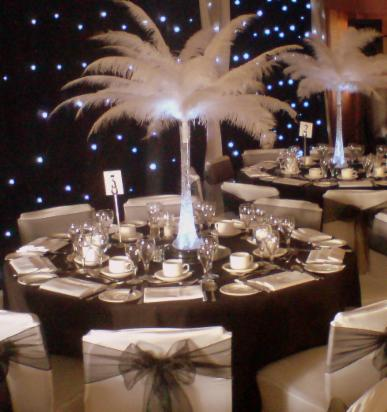 chair cover hire croydon pottery barn child rocking ostrich feather centrepiece balloons wedding parties surrey