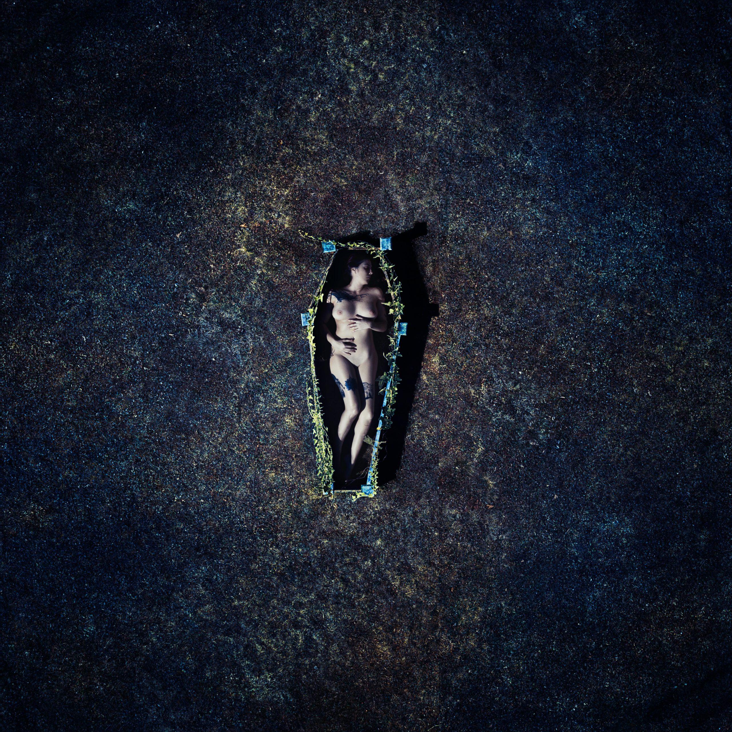 drone self portrait, death, coffin
