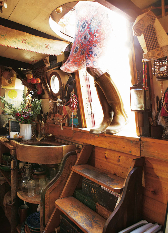 Emma Freemantle welcomes us aboard her floating home