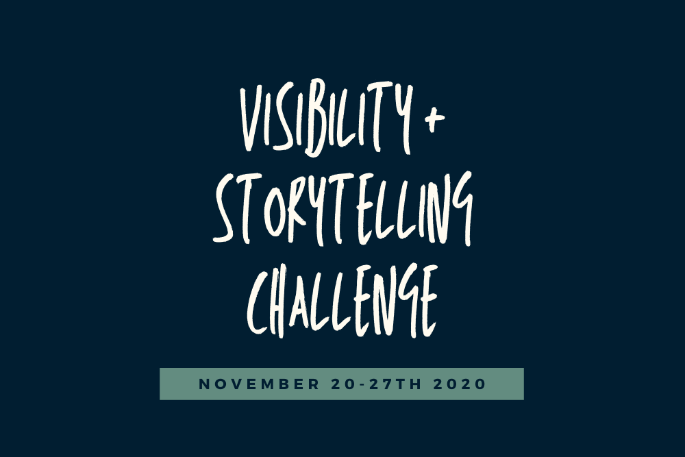 Join The Visibility + Storytelling Challenge