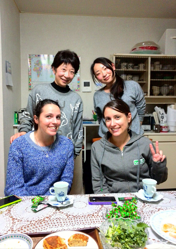 Overcoming Overwhelm: The Power of Happiness Course Review - Sarah & Laura in Osaka practising their Japanese language.
