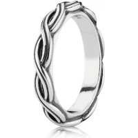 Pandora Silver Twist Ring 58 ~ 190872-58 - Jewellery from ...