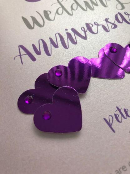 Amethyst anniversary card