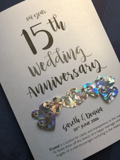 crystal 15th anniversary card