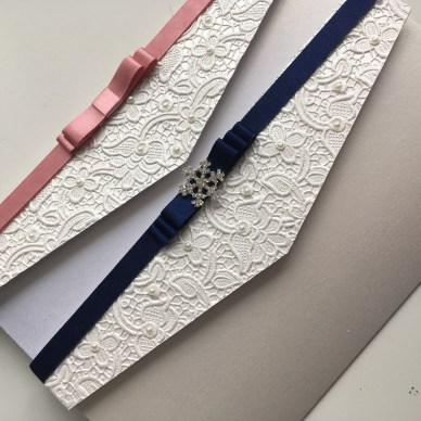 Lace paper pocketfolds
