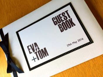 Typographic guest book