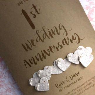 Paper (1st) anniversary card