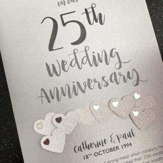 Silver (25th) Anniversary Card