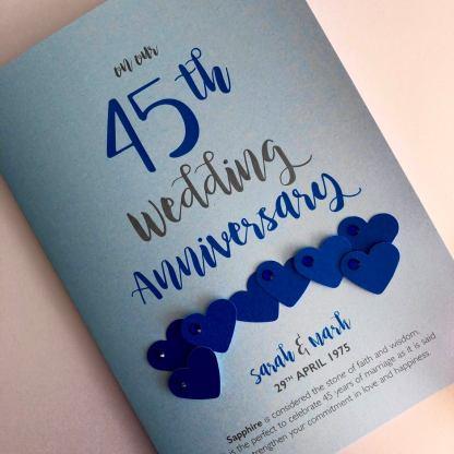 Sapphire (45th) anniversary card