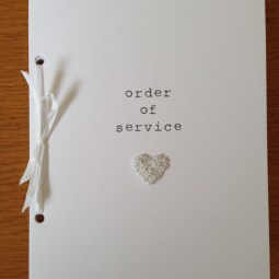Beaded Heart order of service