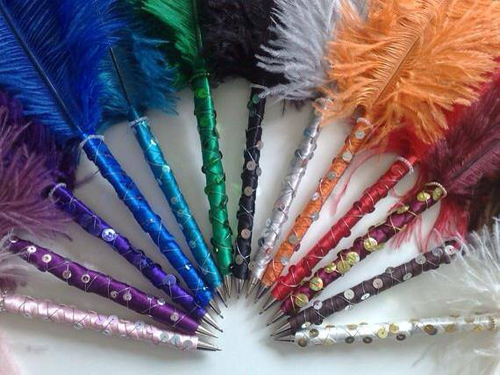 ostrich feather pens