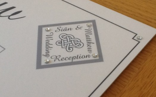 Platinum - printed & embellished with gems