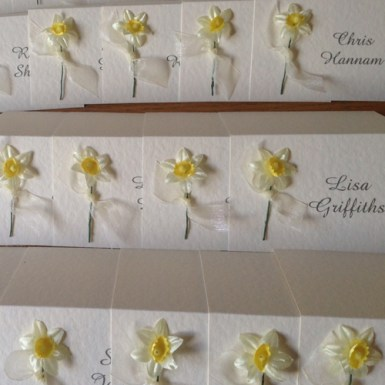 Springtime placecards