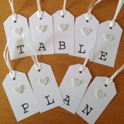 Beaded heart table plan tags