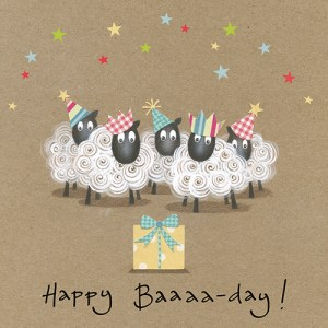 Happy Baaaa-Day Flamingo Paperie Card Design