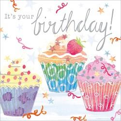Cupcake Birthday Card Design