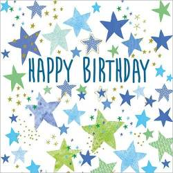 Blue Star Birthday Card