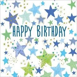 Blue Star Birthday Card