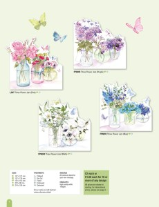 Die Cut flower vase card selection